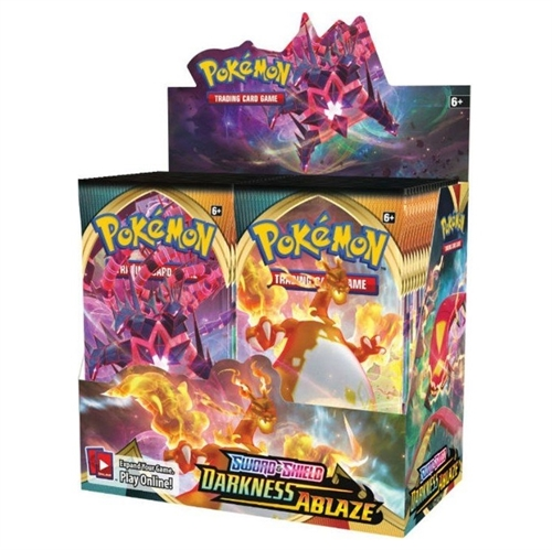 Pokemon Sword & Shield - Darkness Ablaze - Booster Box Display (36 Booster Pakker) - Pokemon kort